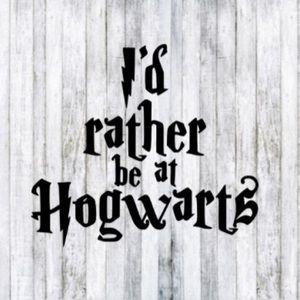 Harry Potter Car Decal I'd rather be at hogwarts
